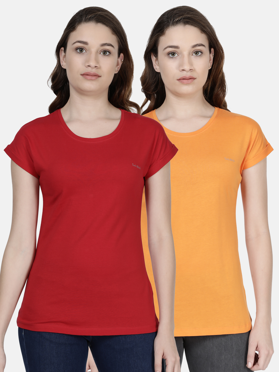 Twin Birds | Twinbirds Women Relaxed Fit Branded Tee - Combo Pack