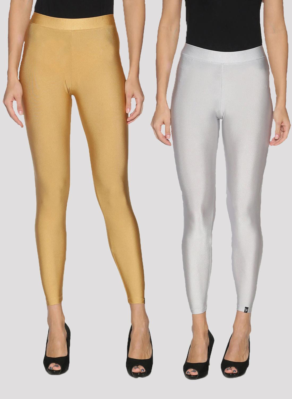 Twin Birds | Twin Birds Women Shimmer  Ankle Legging - Pack of 2