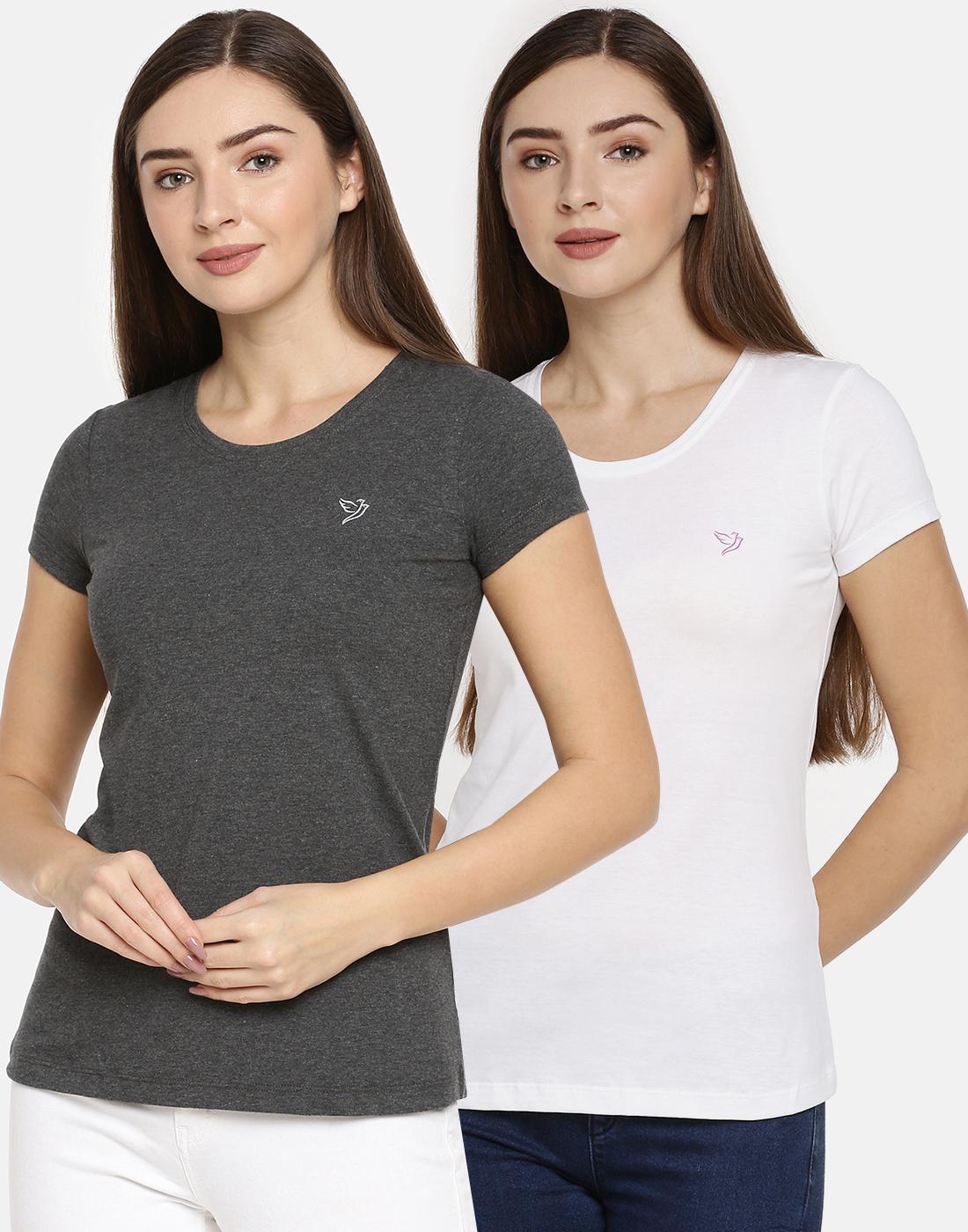 Twin Birds   Twinbirds Women Slim Fit Signature Tee - Combo Pack