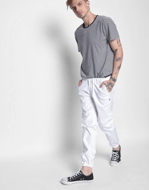 Hemsters | Hemsters White Joggers from Men