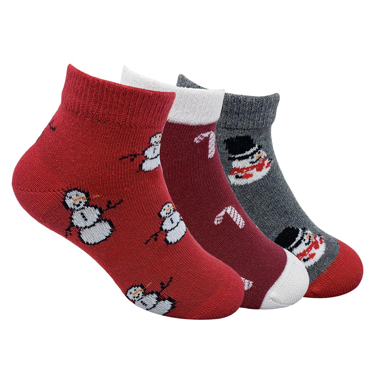 Mint & Oak | Mint & Oak Christmas Around Me Cotton Ankle Length Socks for Kids