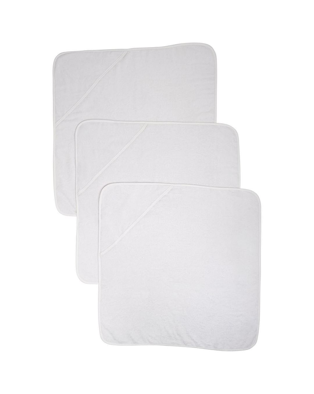 Mothercare   Cuddle 'N' Dry Hooded Towels - White - Pack of 3