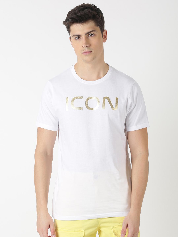 Blue Saint | Blue Saint Men's Printed White T-Shirt