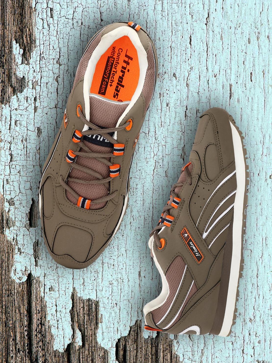 Hirolas | Hirolas Multi Sport Shock Absorbing Walking  Running Fitness Athletic Training Gym Sneaker Shoes - Chickoo