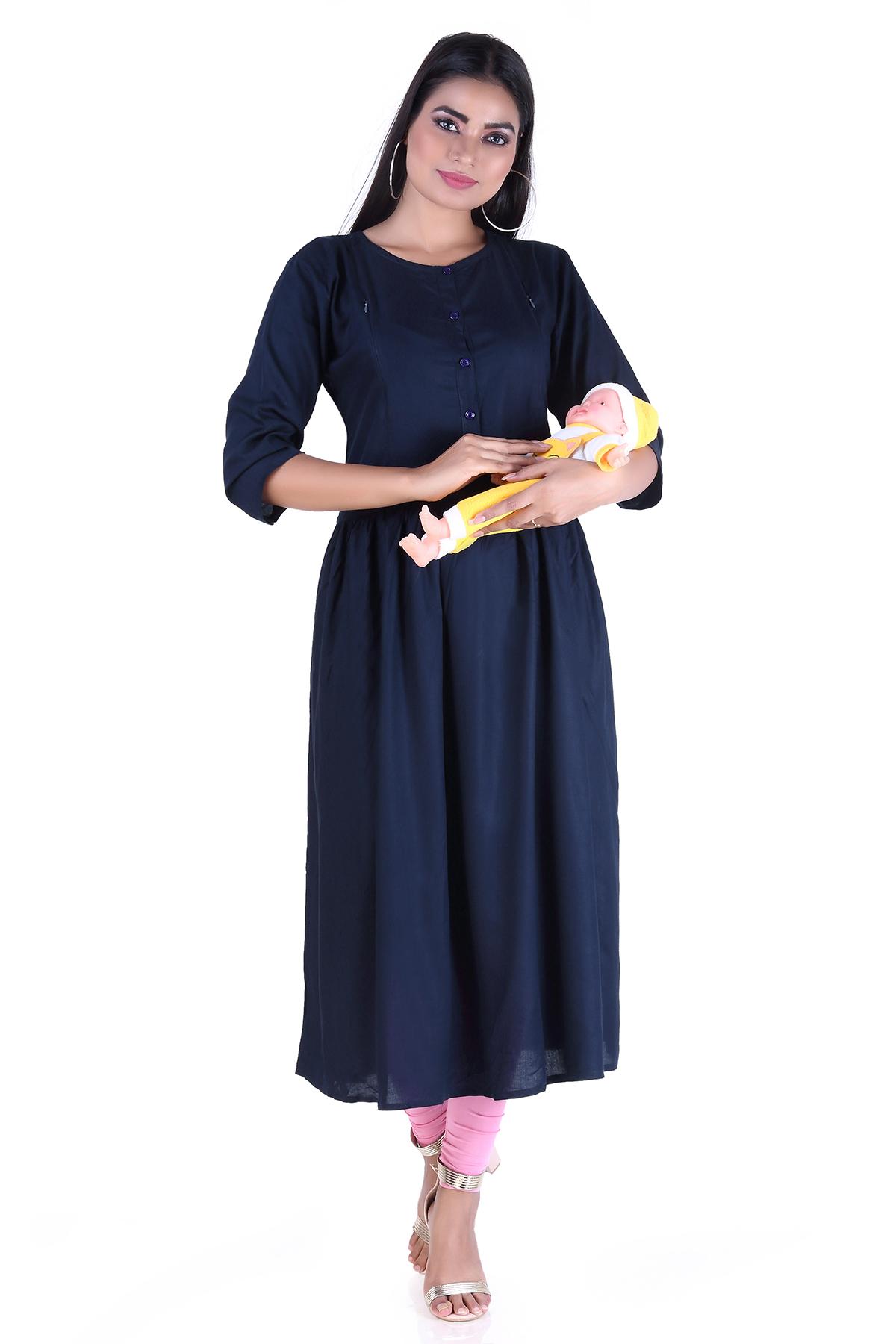 Black Lady | Woman Maternity Kurta/Feeding Kurta