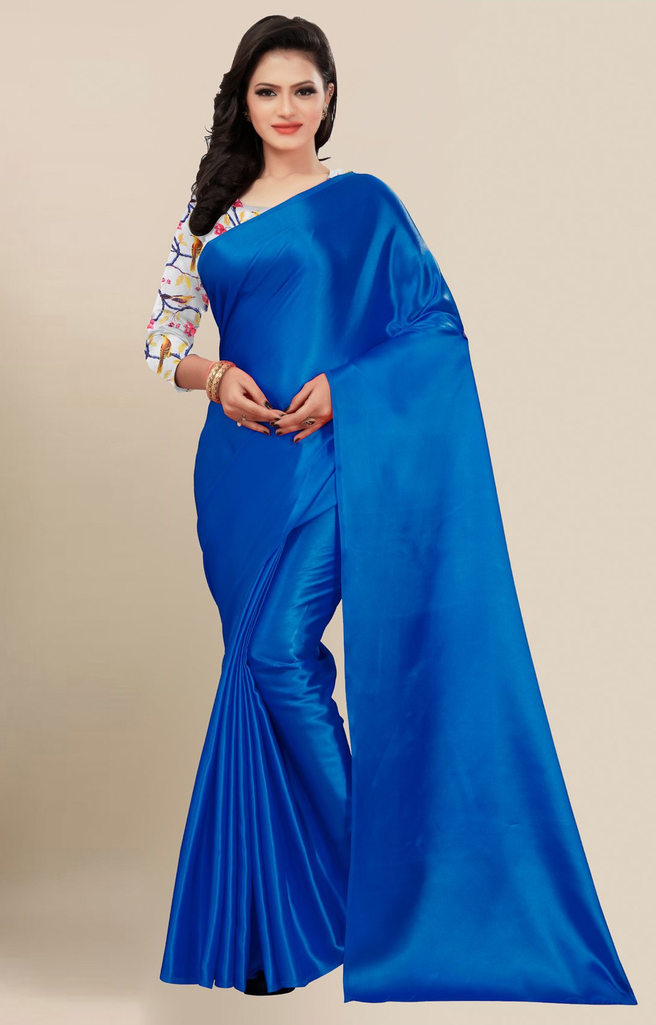 SATIMA | Fancy Blue Solid Casual Wear Saree