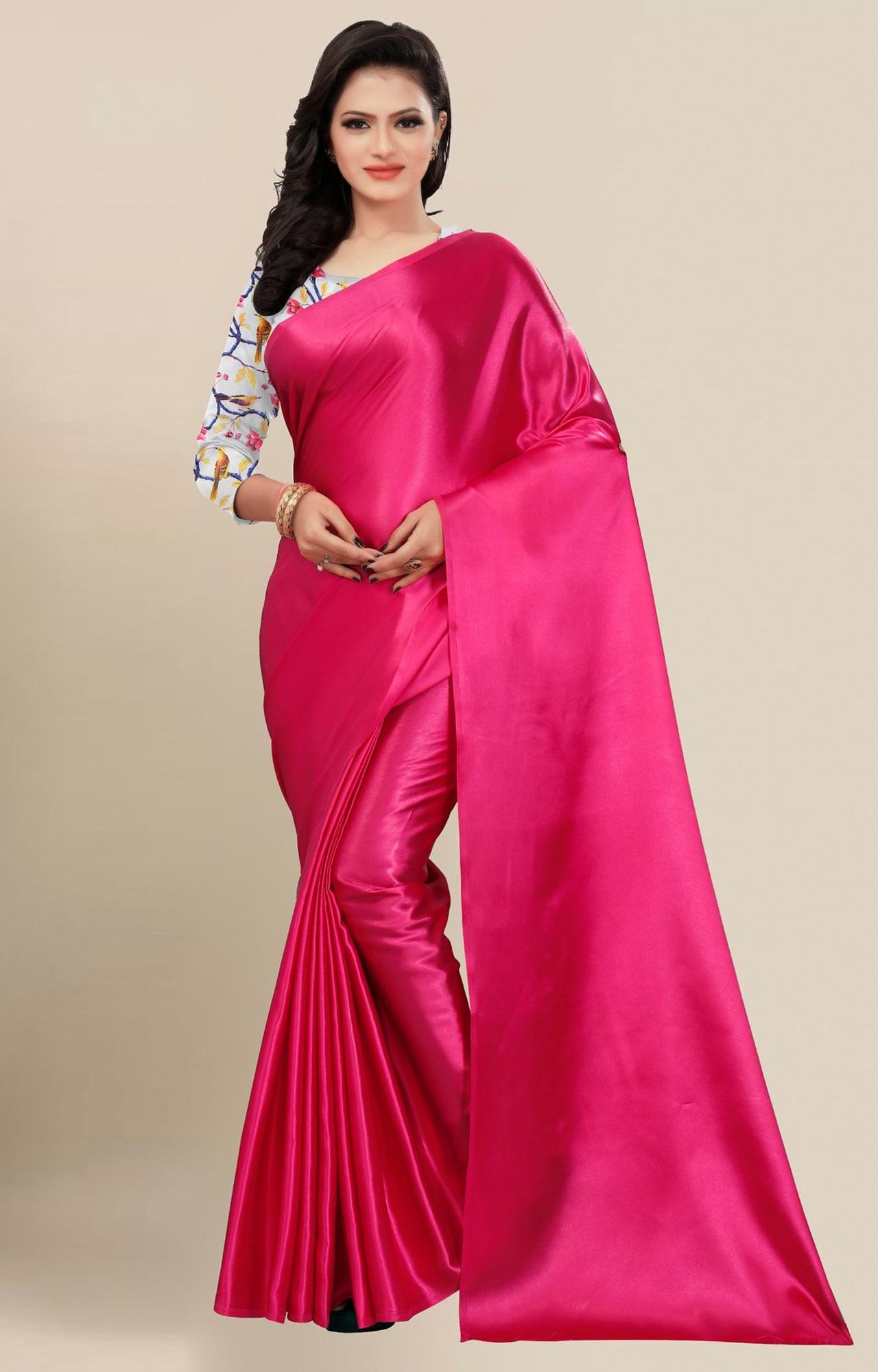 SATIMA | Fancy Rani Solid Casual Wear Saree