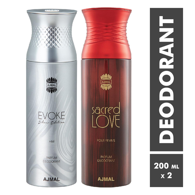 Ajmal | Evoke and Sacred Love Deodorant Spray - Pack of 2