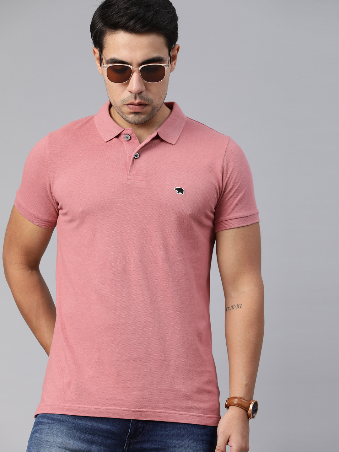 The Bear House | POLO Solid T-Shirt
