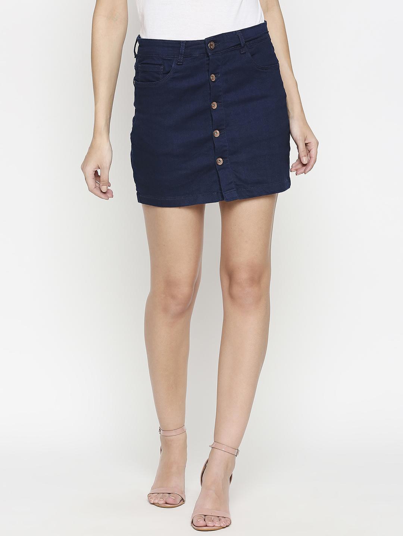Spykar | Spykar Cotton Blue Skirt