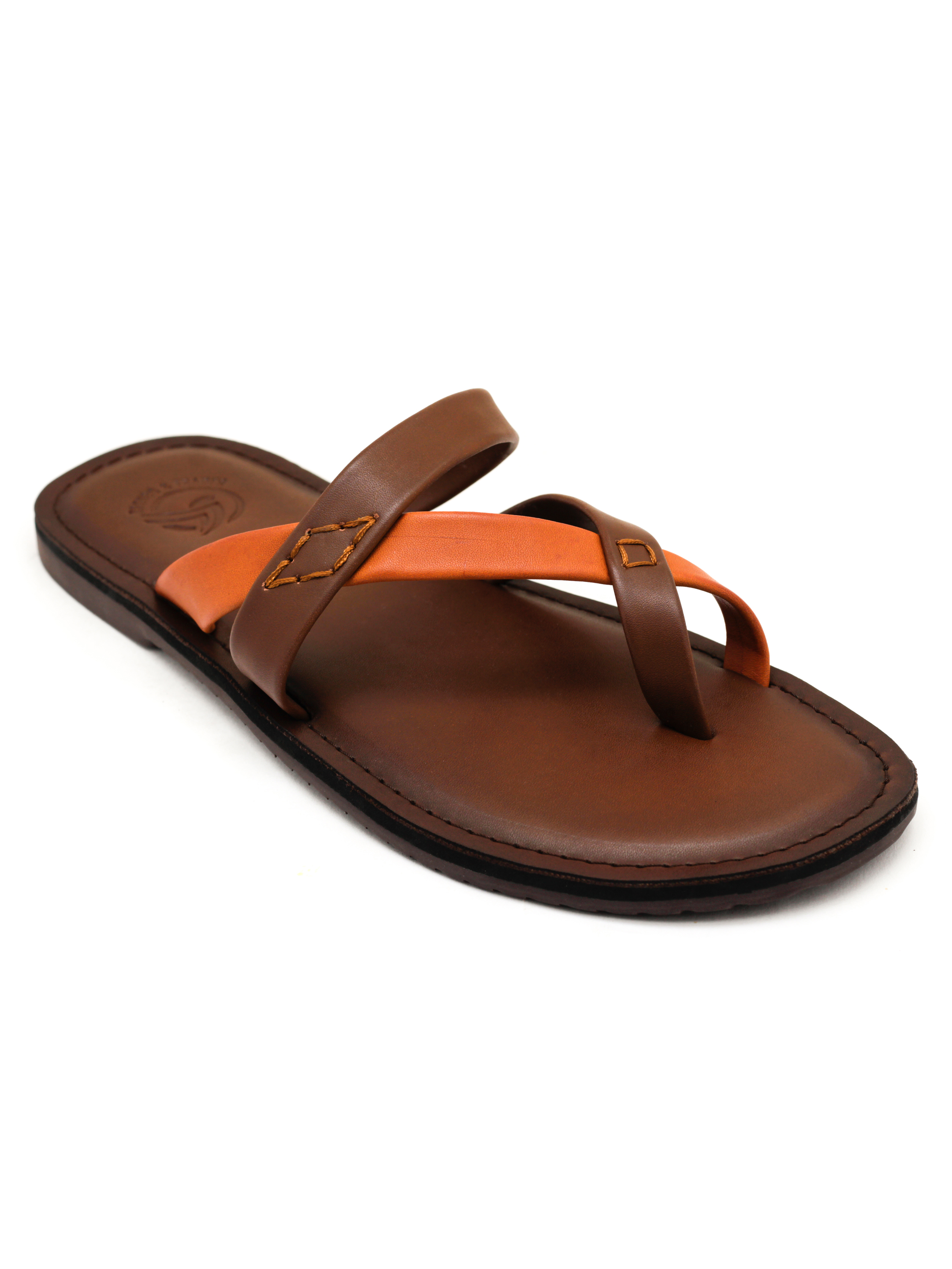 Trends & Trades | Mens Colour blocked Brown Sandals