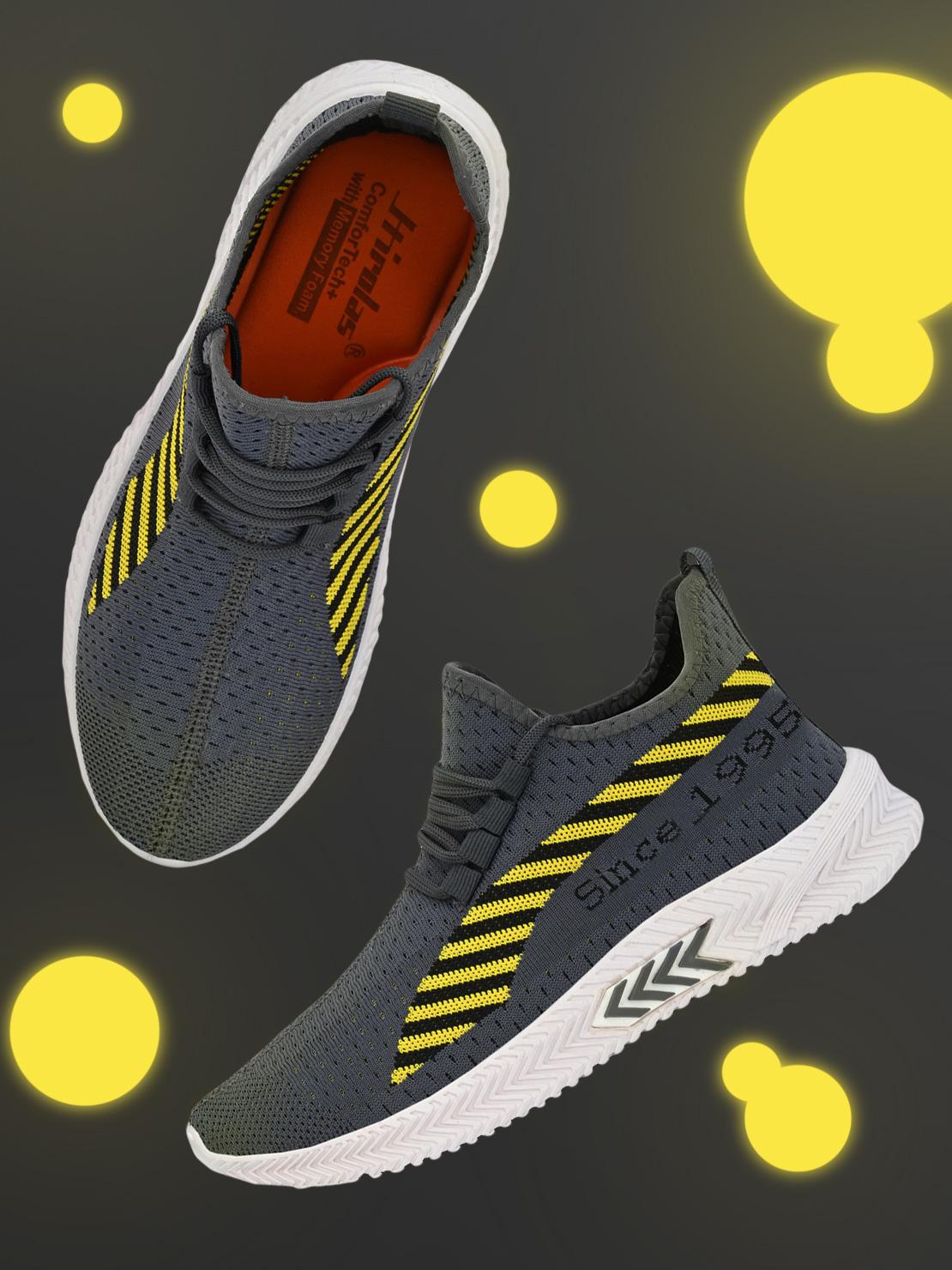 Hirolas   Hirolas® Men's Grey Knitted Running/Gym/Walking athleisure Sports Sneaker Shoes