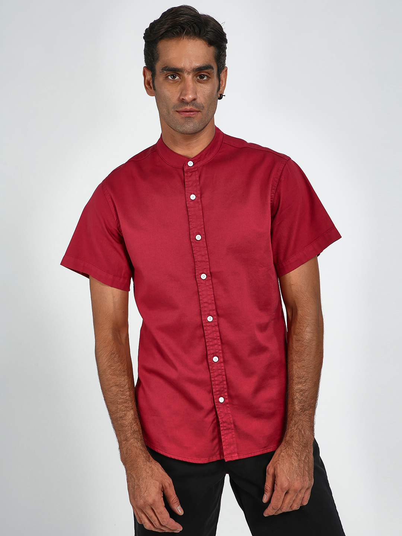 Blue Saint | Blue Saint Men's Red Slim Fit Shirts