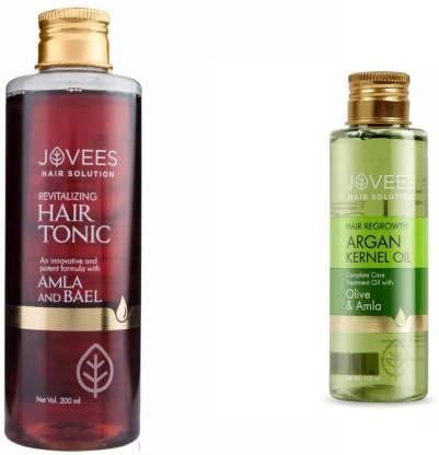 Jovees | JOVEES Revitalizing Hair Tonic-Amla and Bael. & Hair Regrowth-Argan Kernel Oil