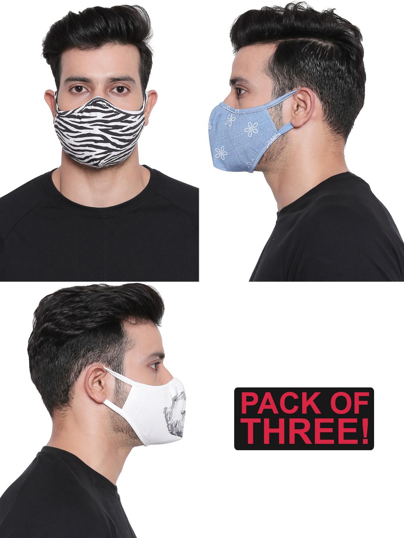 Spykar | Spykar Assorted Designer Face Mask - Set of 3