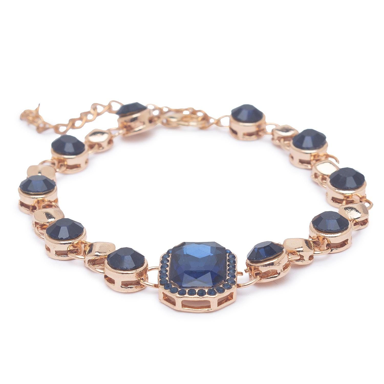 globus   Globus Gold and Navy Clasp Bracelet