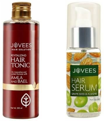 Jovees | JOVEES Hair Tonic Amla & Bael WITH Grape Seed & Almond Hair Serum (pack of 2)  (2 Items in the set)