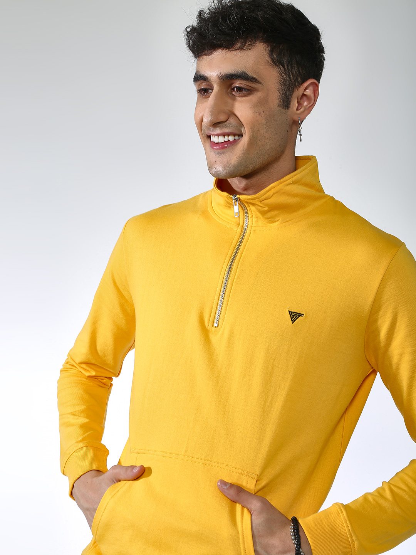 Blue Saint | Blue Saint Men's Yellow Regular Fit Sweatshirts