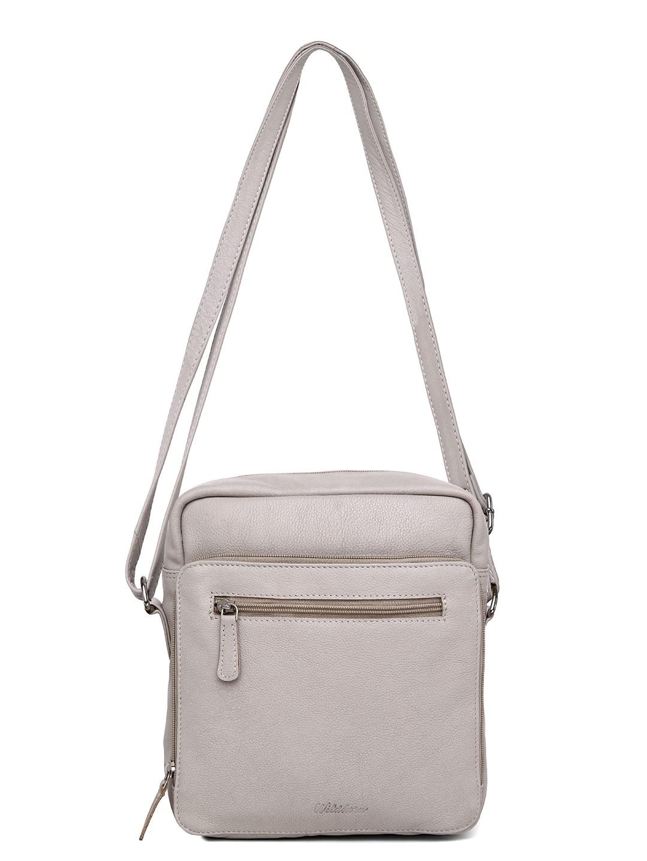 WildHorn | WildHorn Upper Grain Genuine Leather Ladies Sling, Cross-body, Hand Bag with Adjustable Strap - Off White