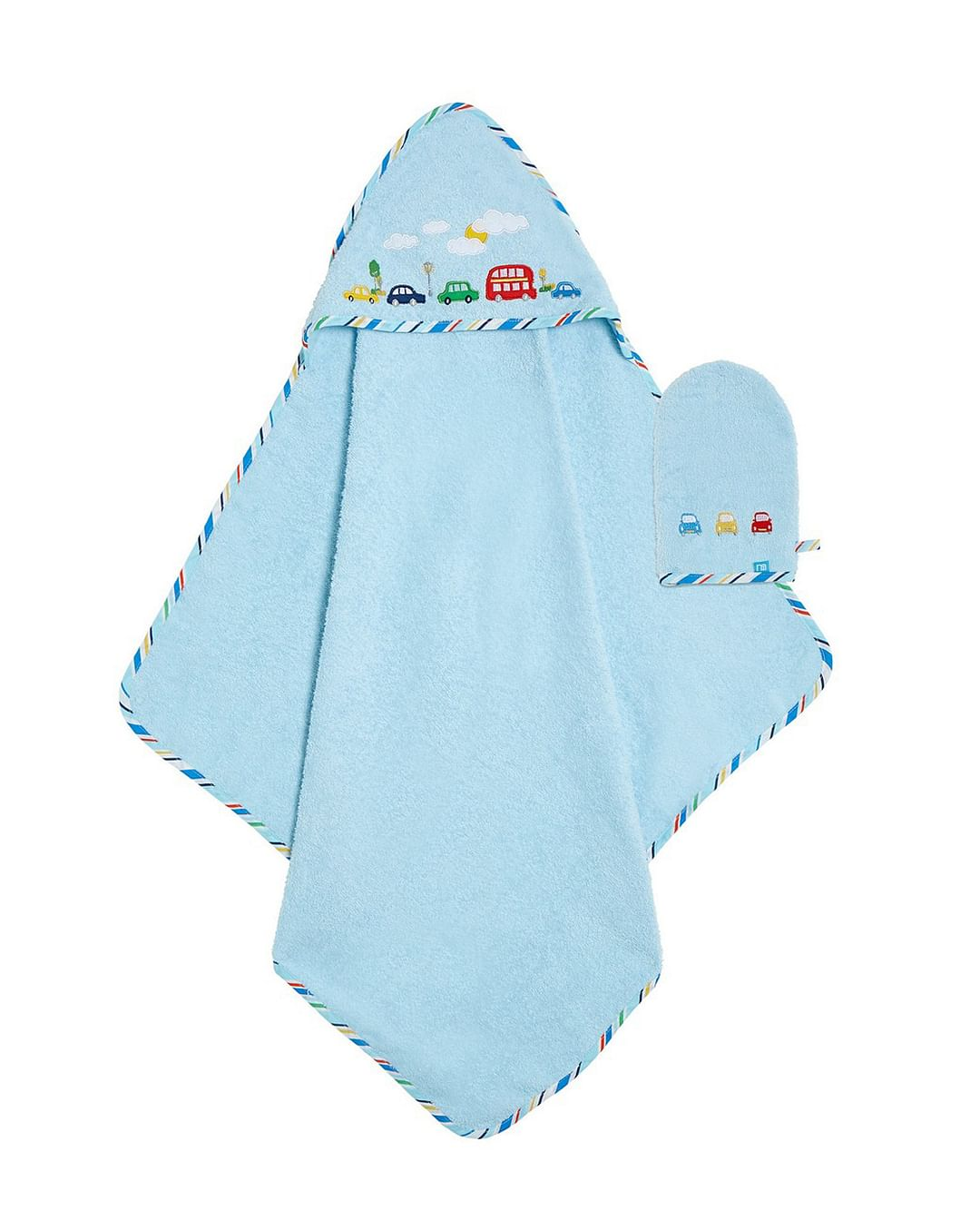 Mothercare | On The Road Cuddle 'N' Dry and Mitt Set