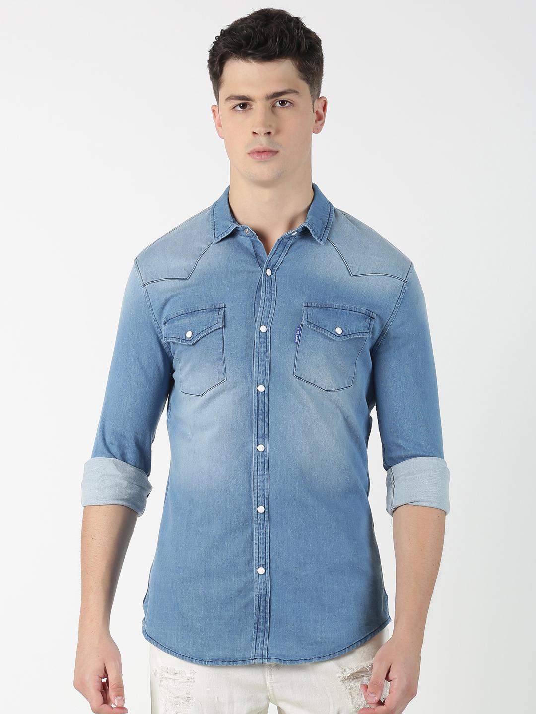 Blue Saint   Blue Saint Men's Solid Blue Shirt
