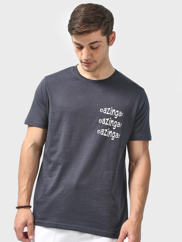 Blue Saint | Blue Saint Men's Blue Regular Fit T-shirts