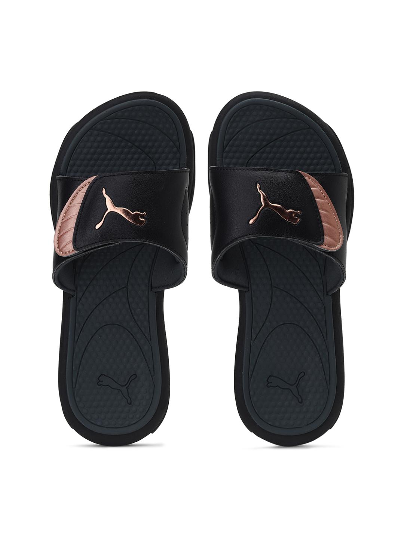 Puma   PUMA ROYALCAT COMFORT WNS PUMA BLACK-ROSE GOL LEISURE Sandals