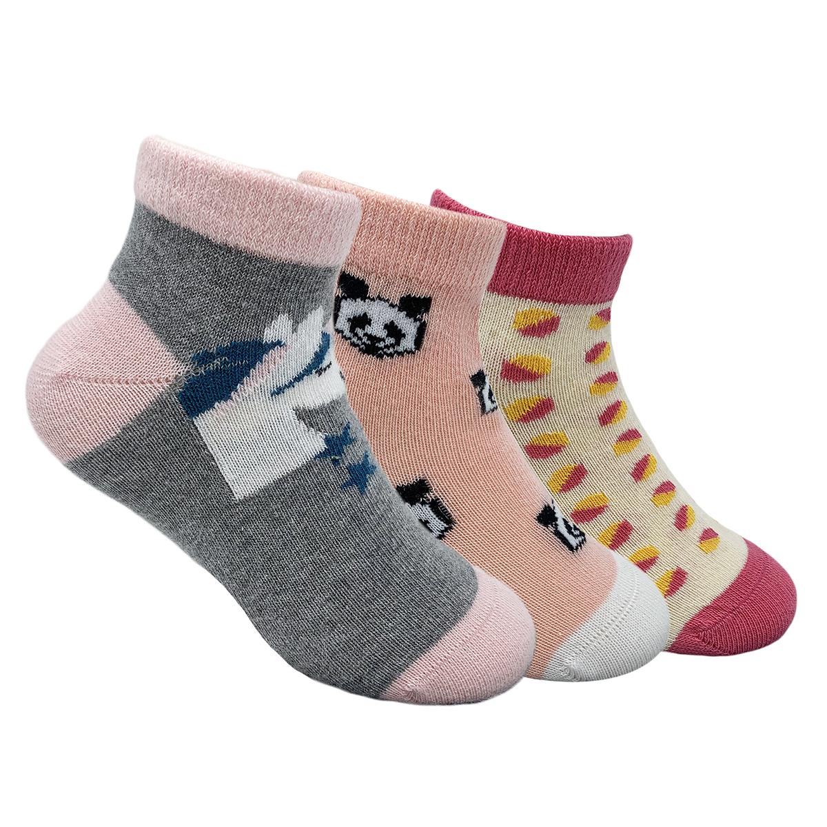 Mint & Oak | Mint & Oak Pretty In Pink Cotton Ankle Length Socks for Kids