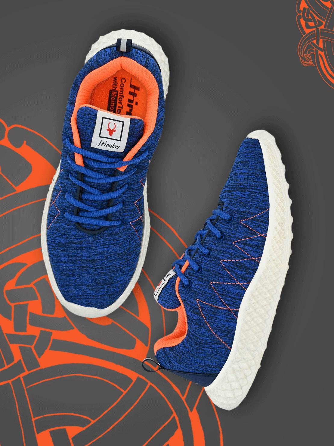 Hirolas | Hirolas® Men's Mesh Blue Walking/Running/Gym Sports Sneaker Shoes