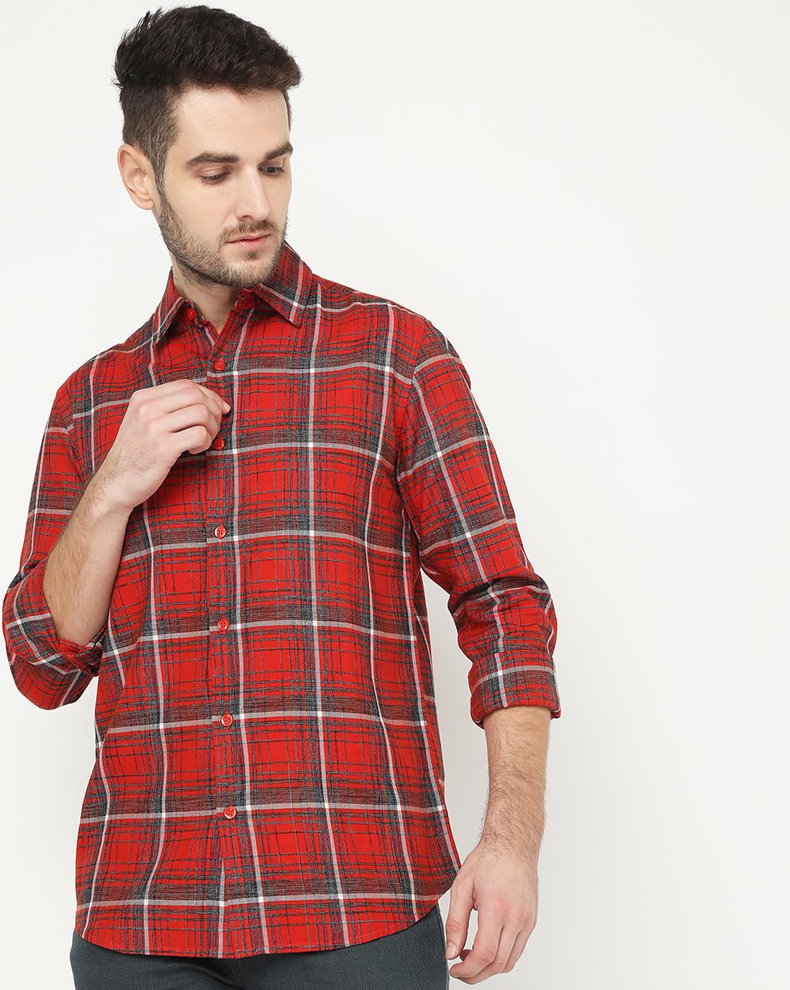 GAS | Men's Sir Det Red Checked Shirt
