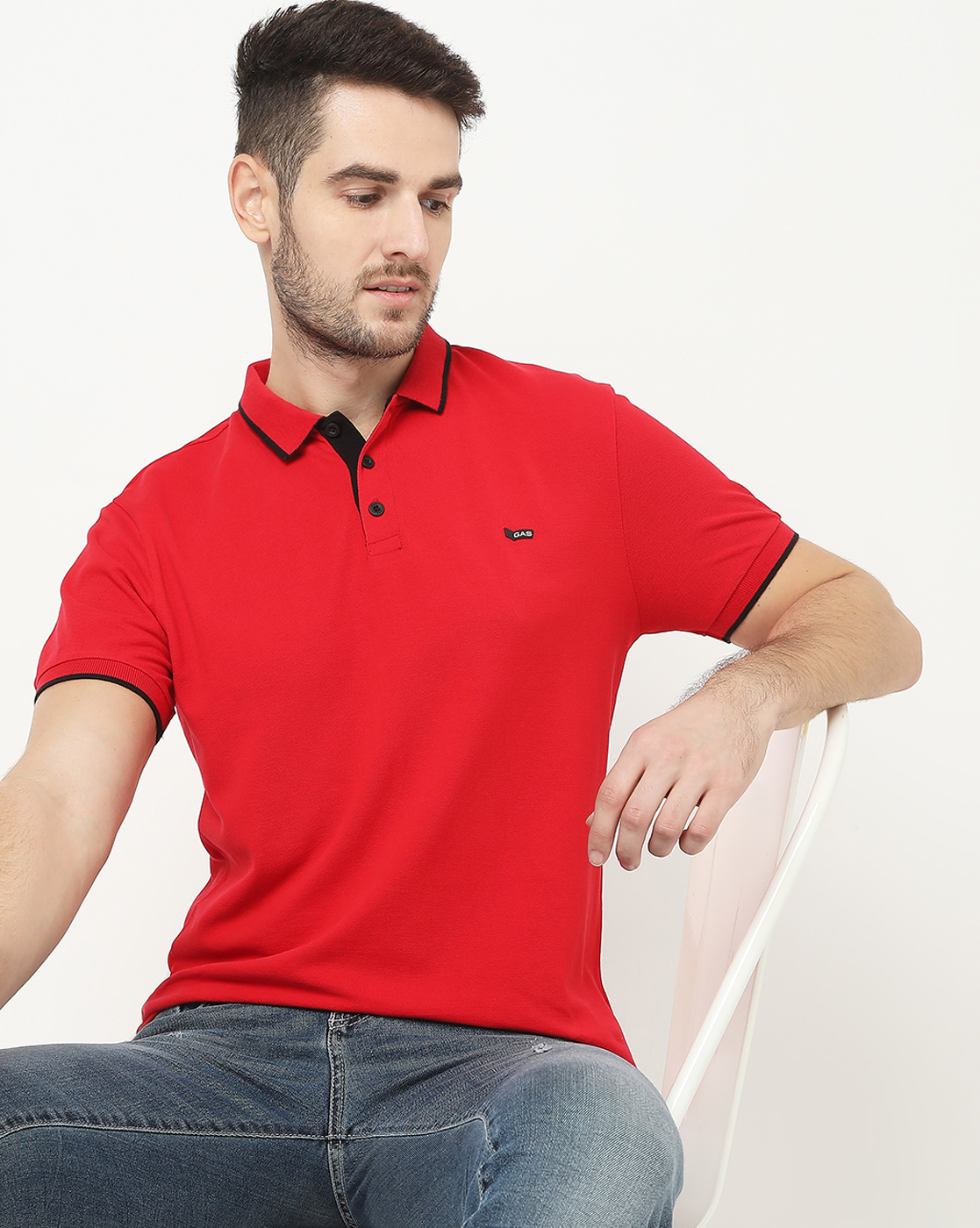 GAS | Ralph Basic Red Polo
