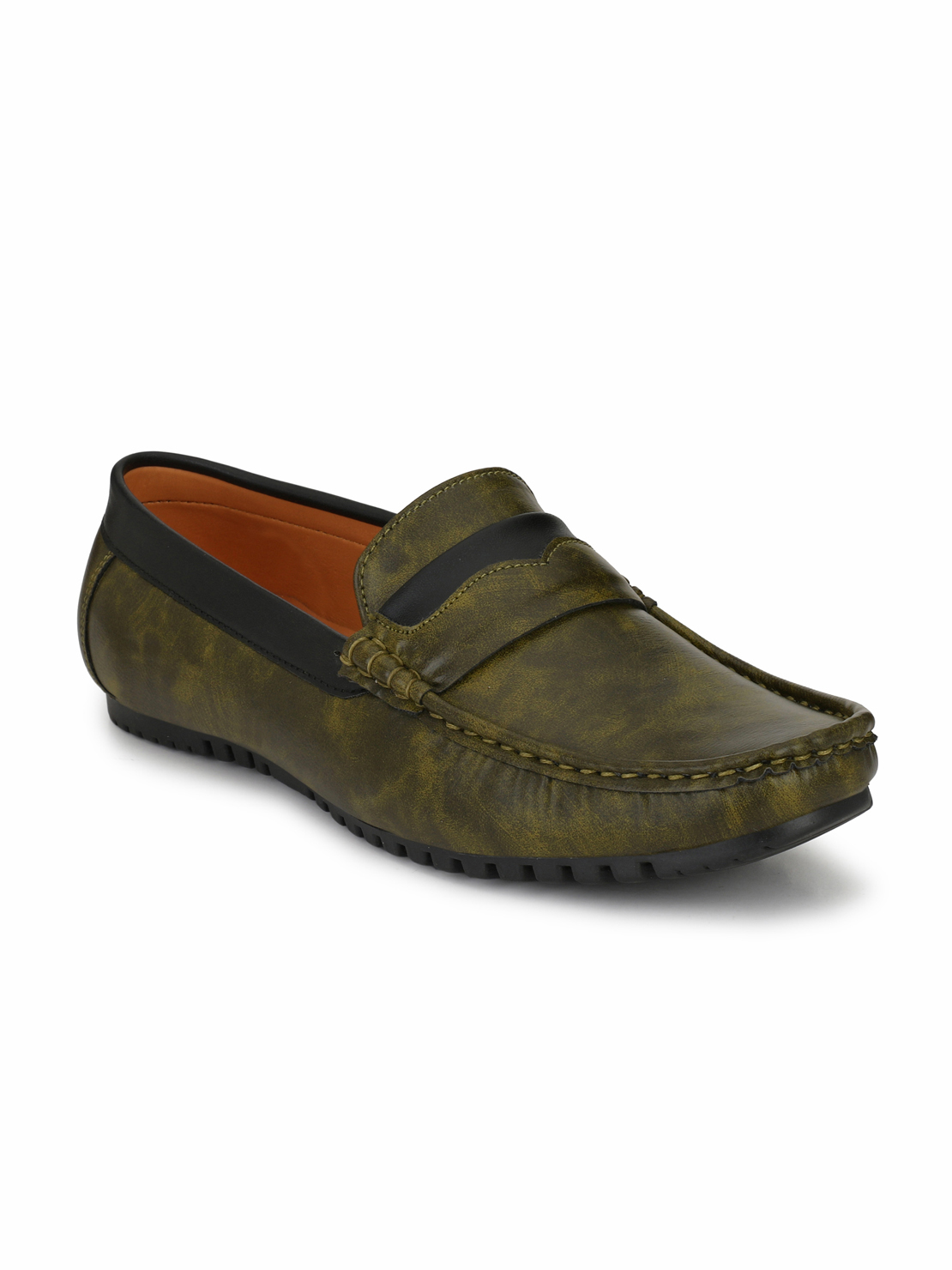 Guava | Men's Casual loafer Shoe - Olive Green