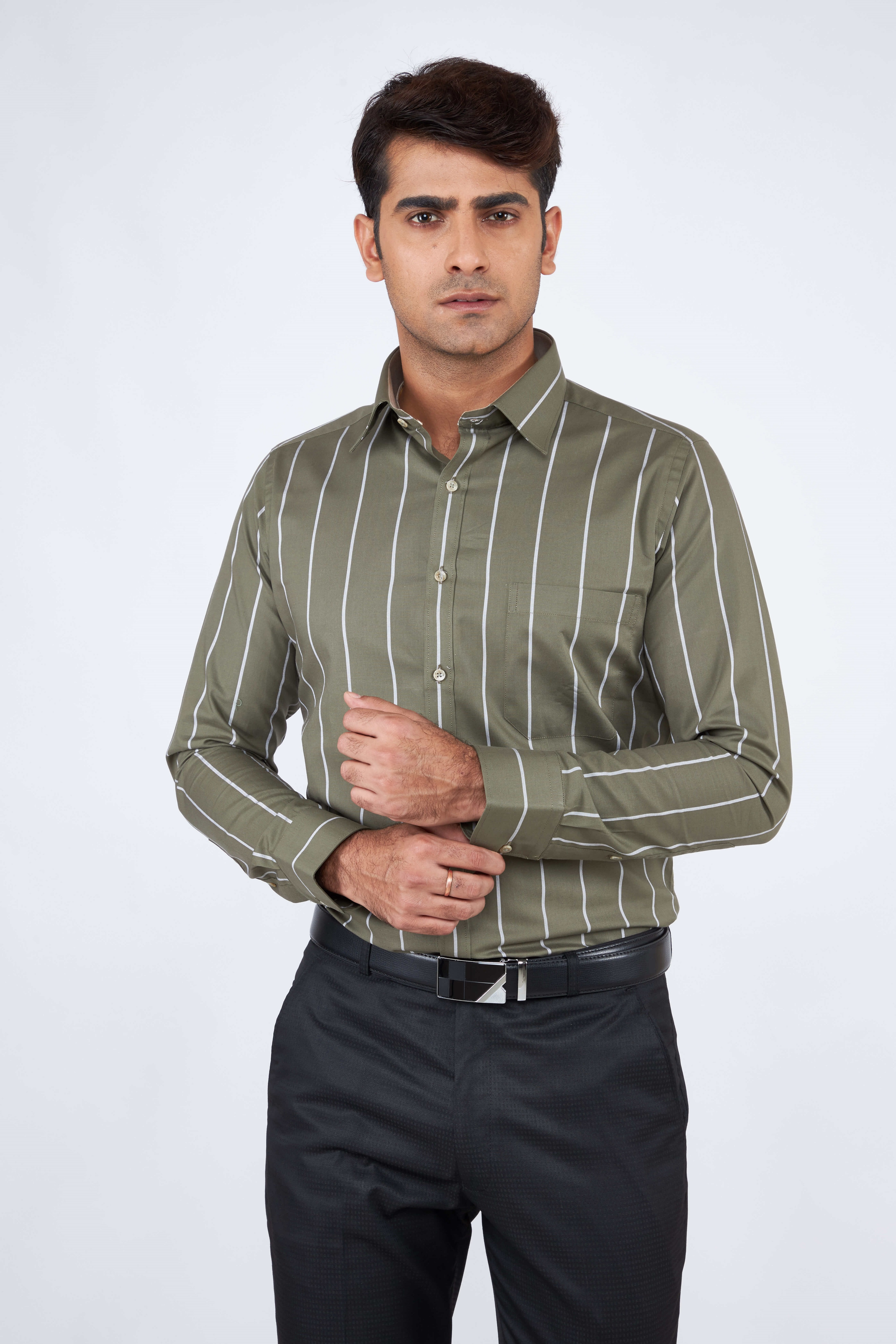 e-gen   Olive Formal Shirt