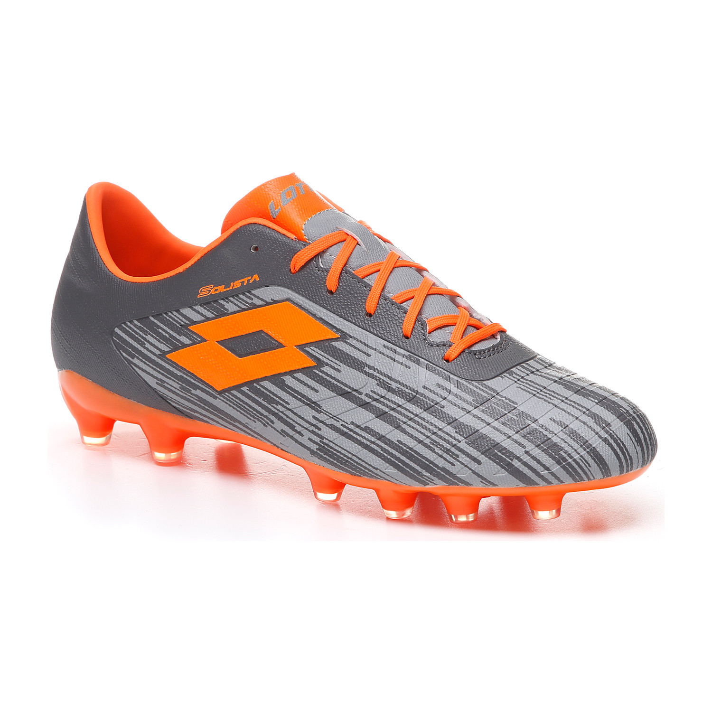 Lotto   Lotto Men's Solista 700 Iii Fg Cool Gray 7C/Orange Fluo 2/Gravity Titan Football Shoes