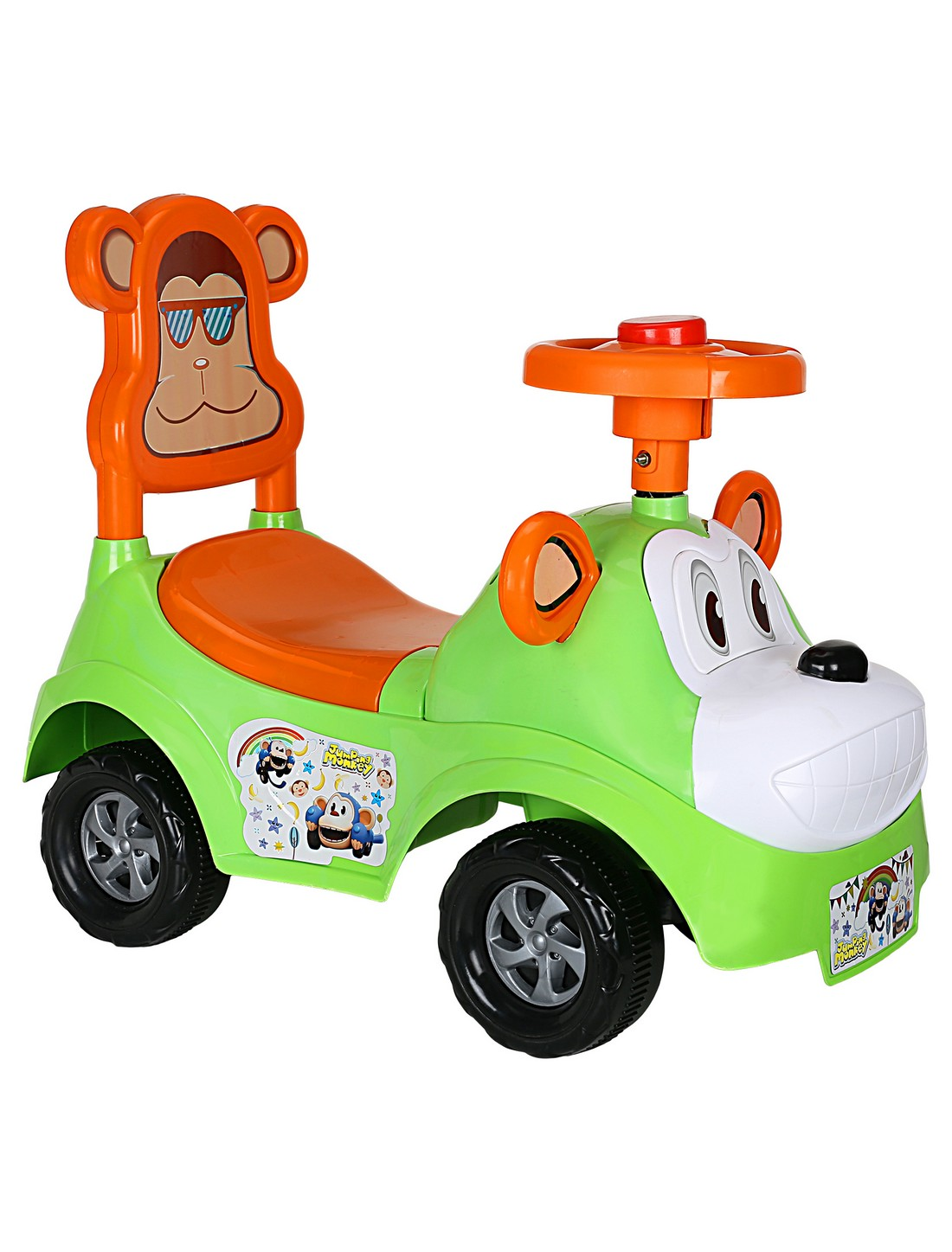 CREATURE | Creature Green Monkey Rider Ride-On Cars Toy Vehicle for Kids