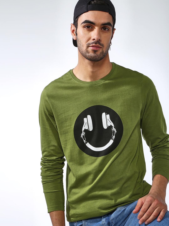 Blue Saint | Blue Saint Men's Green Regular Fit T-shirts