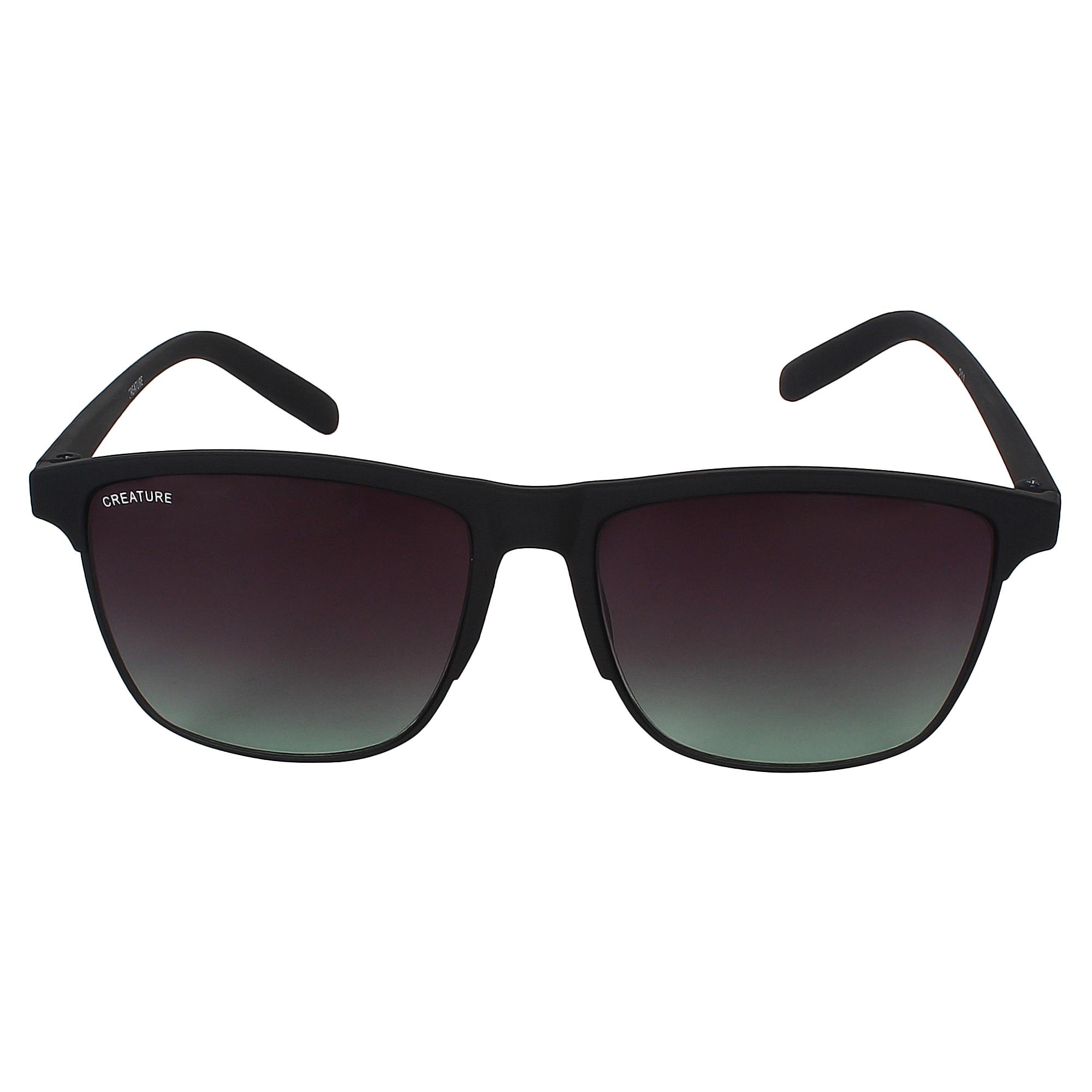 CREATURE   CREATURE Black Sunglasses with UV Protection (Lens-Black Frame-Black)