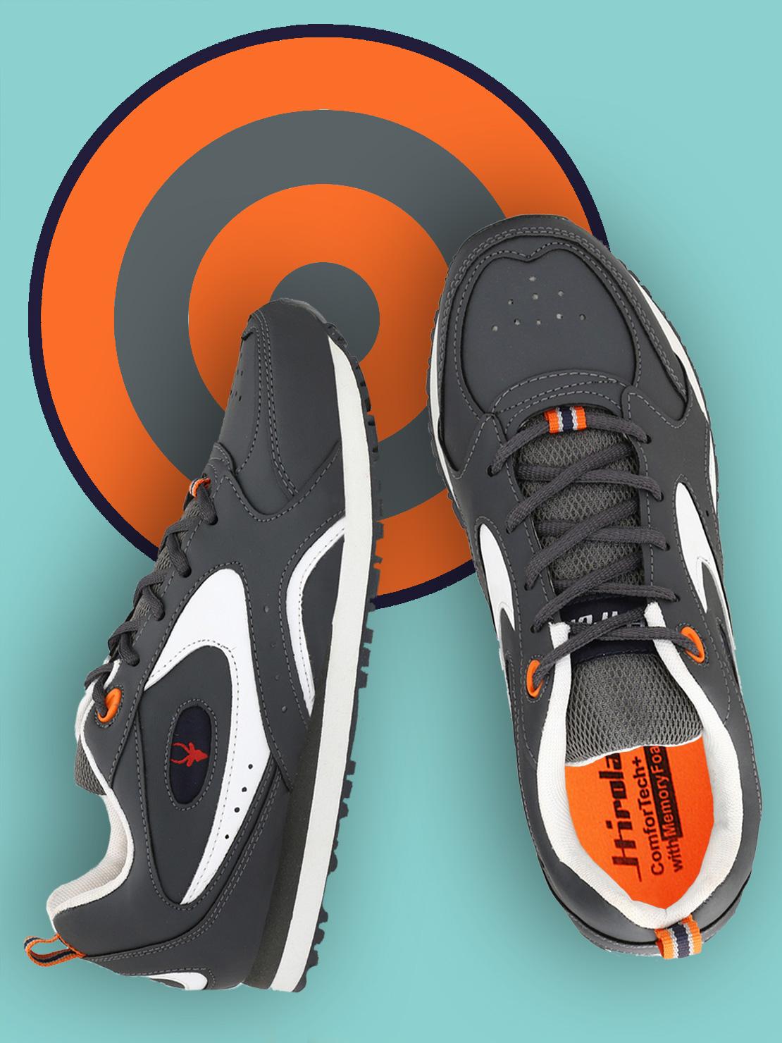 Hirolas   Hirolas Multi Sport Shock Absorbing Walking  Running Fitness Athletic Training Gym Sneaker Shoes - Grey