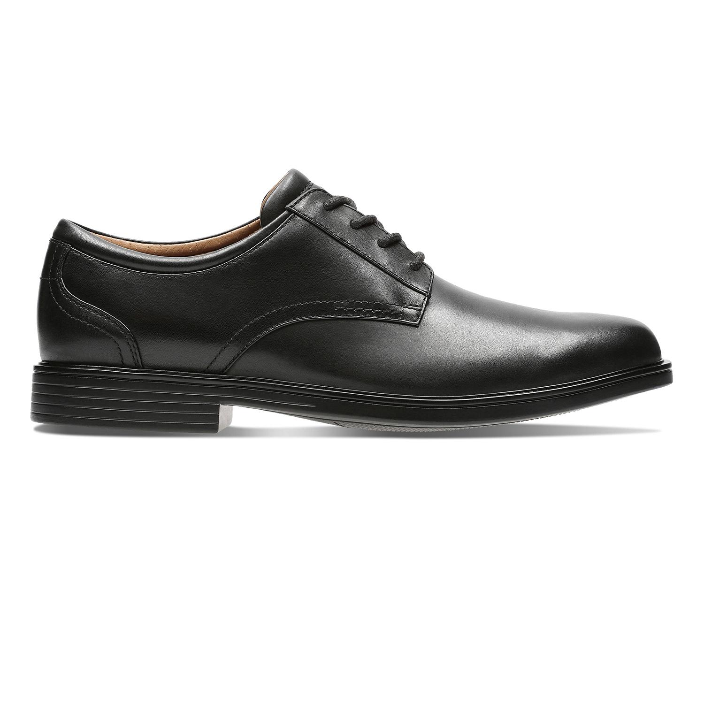 Clarks | Un Aldric Lace Black Leather Derby Shoes