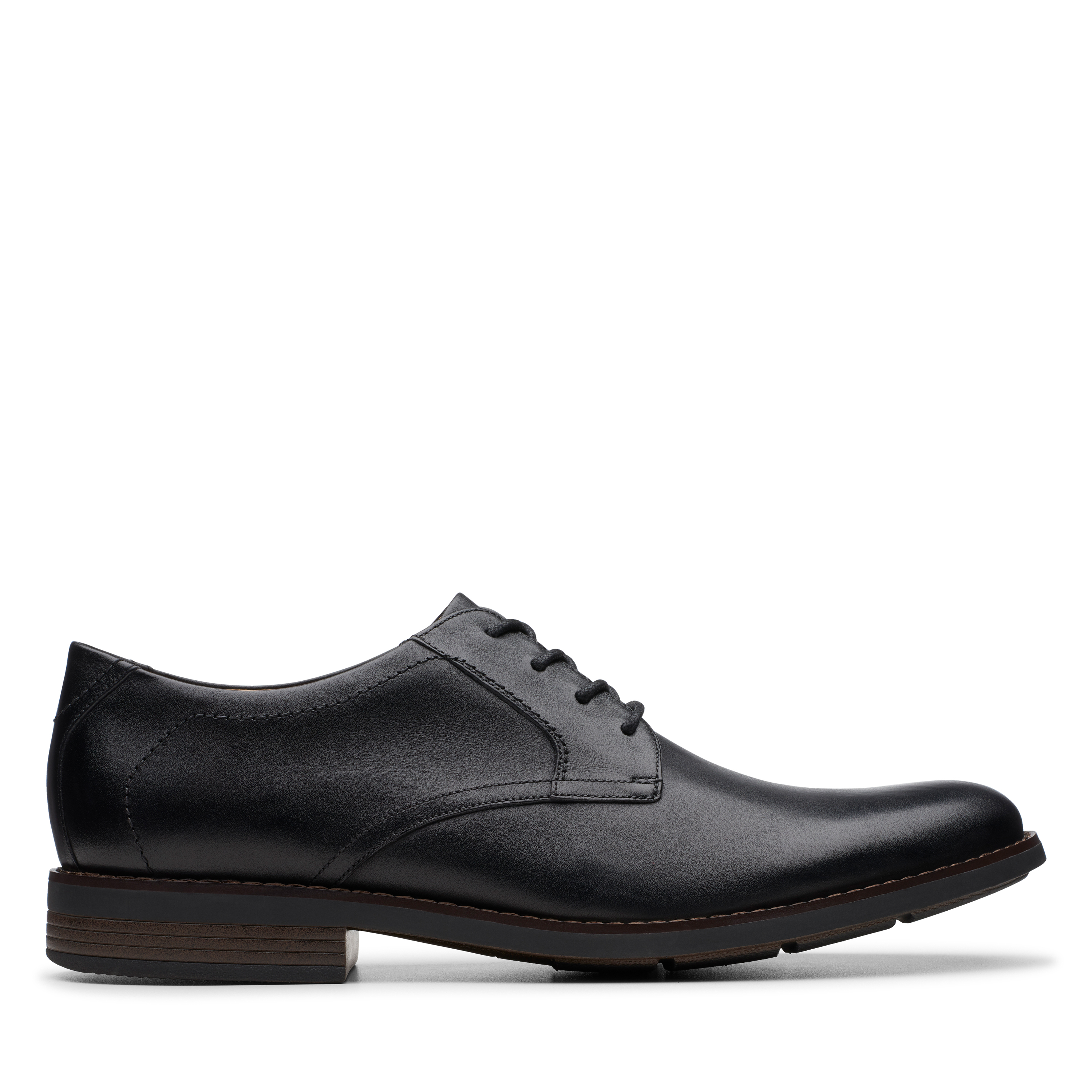 Clarks | BECKEN LACE BLACK LEATHER FORMAL LACE UP
