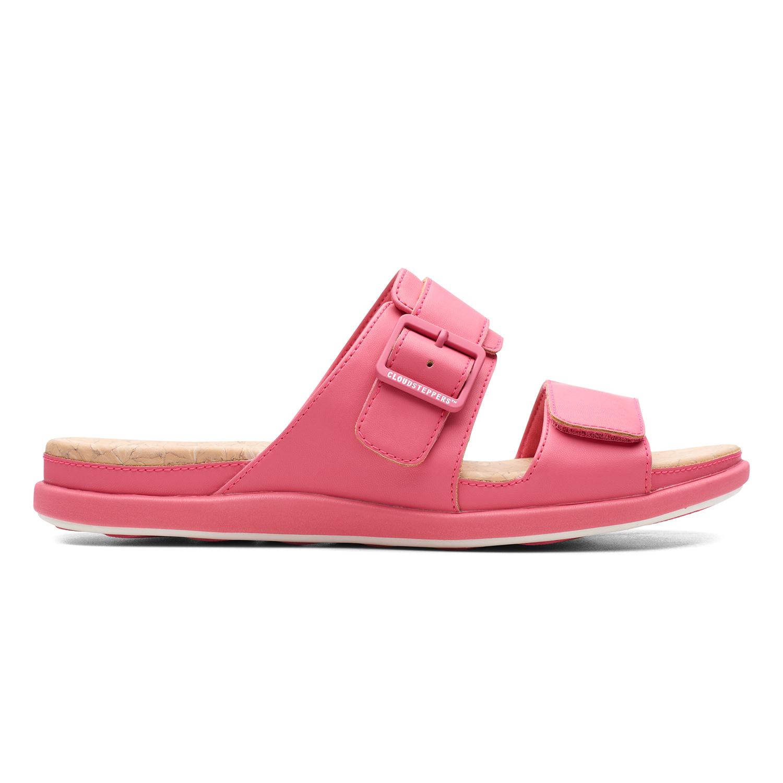 Clarks   Step June Sun Berry Flat Sandals