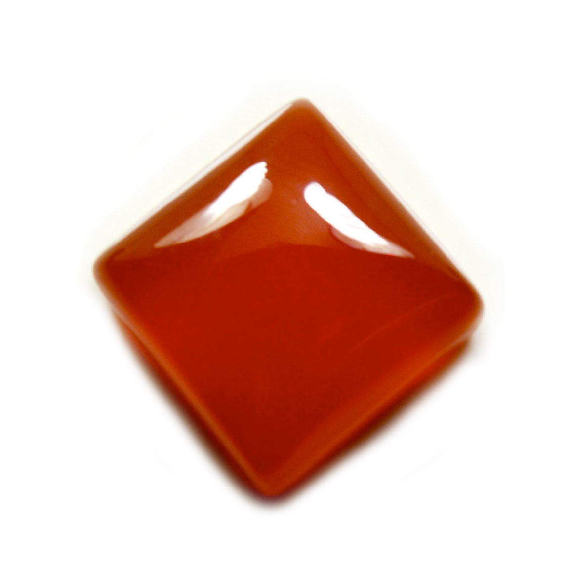 55Carat   Natural Square Carnelian 7.25 Ratti 6.59 Carat Loose Stone Raat-Ratuva At Wholesale Rate