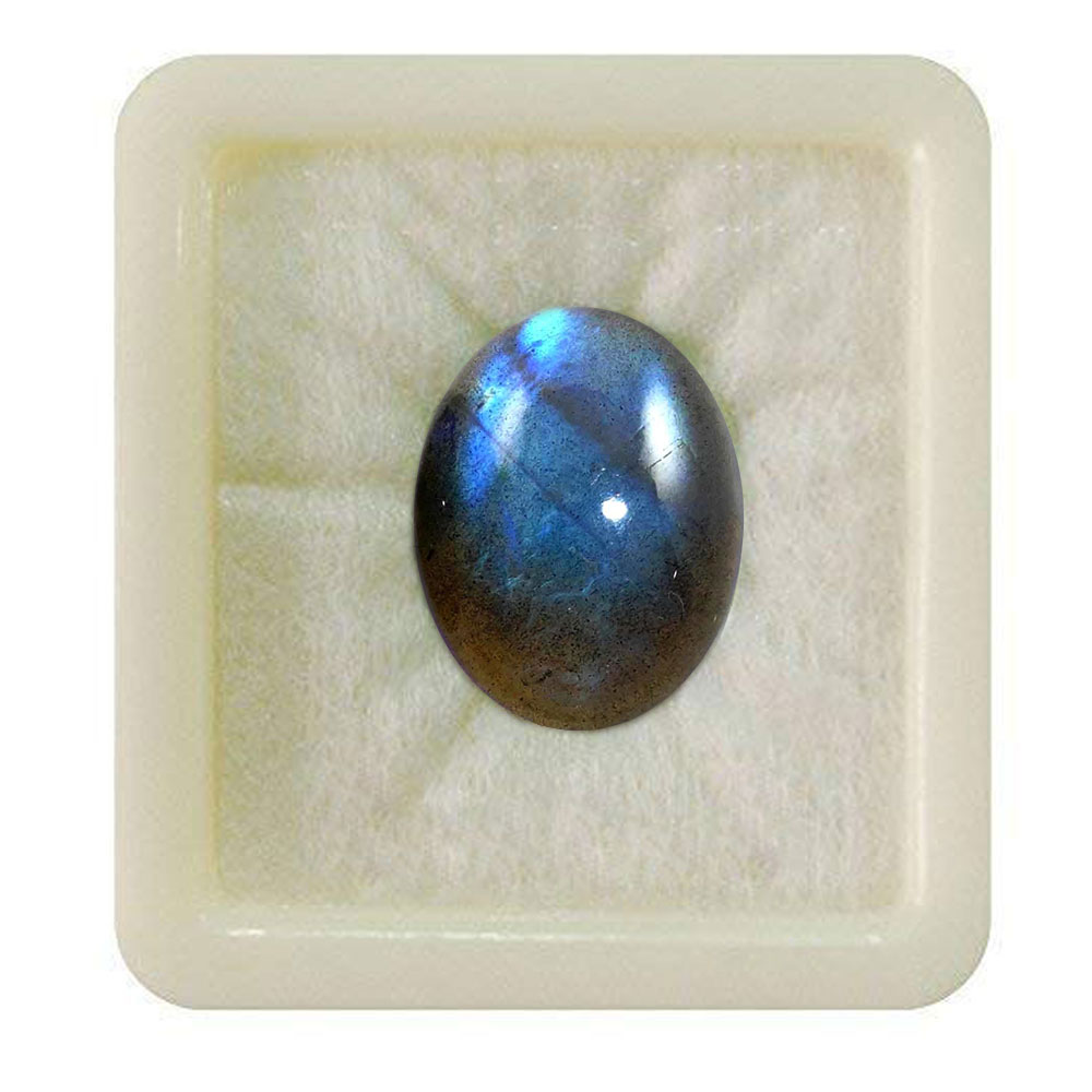 55Carat   Original Certified Labradorite Gemstone 8.25 Ratti 7.5 Carat Oval Shape Birthstone