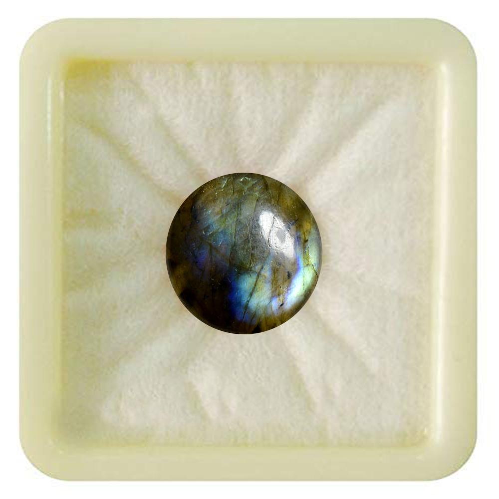 55Carat   Natural Certified Labradorite Loose Stone 6.25 Ratti 5.68 Carat Round Shape Birthstone