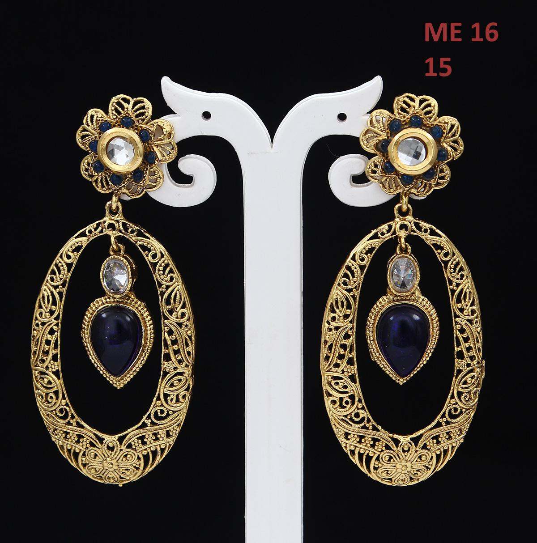 55Carat   Jhumka/ Jhumki Earrings Gold Plated Crystal Crystal Modern Jhumka/ Jhumki Earrings Gold Plated Crystal for Girls Ladies Modern