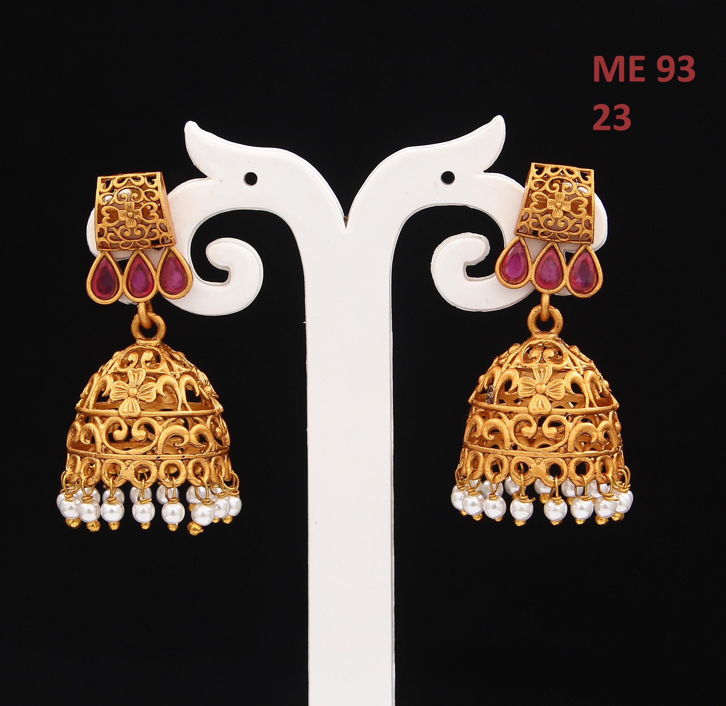 55Carat   Dangle & Drop Earrings 18K Gold Plated Blue Sapphire, Ruby, Kundan Blue Sapphire, Ruby Dangle & Drop Earrings 18K Gold Plated Blue Sapphire, Ruby, Kundan for Women Girls Ladies Exclusive Pretty