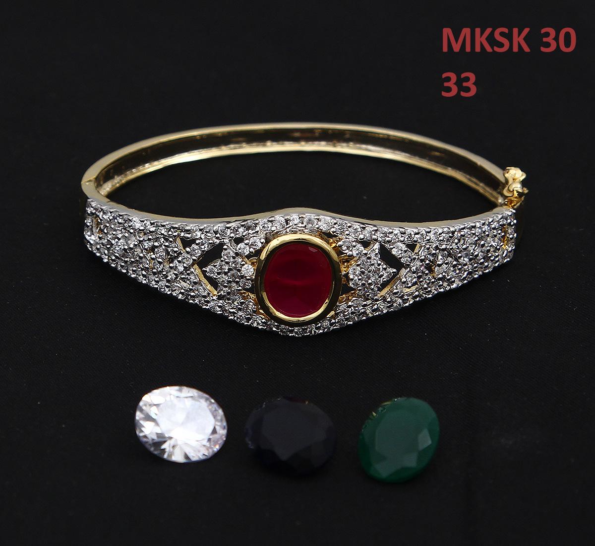 55Carat | 55Carat Beautiful Attractive Bangle Bracelet Red Onyx Hakik Diamond CZ 14K Gold Plated Hand Jewellery Kada Stylish New Fashion Twist & Shine Traditional s for Women Girls