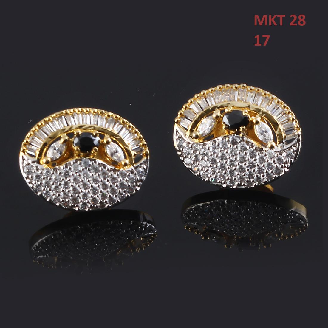 55Carat | 55Carat Ear Tops 14K Gold Plated Blue Sapphire, Cubic Zircon Oval Shape Cute Small Earrings Ear Tops,14K Gold Plated,Blue Sapphire, Cubic Zircon,Oval Shape Cute Small Earrings MKT-28-BLUE