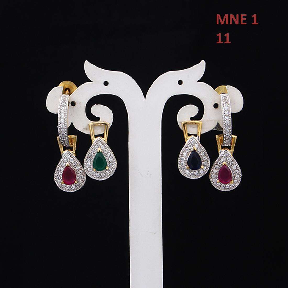 55Carat | Handmade Drop & Dangle Earrings For Women Girls Ladies Cubic Zircon Gold Plated Baali Kundal Jewellery Fashion Jewelry MNE 1
