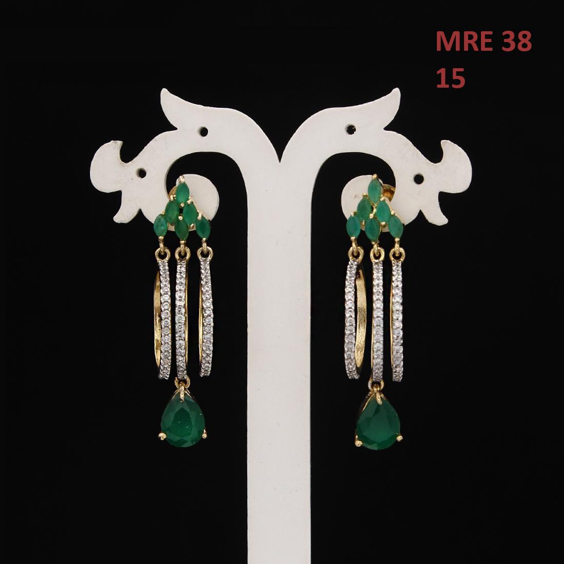 55Carat   Unique Ear Cuff Earrings For Women Girls Ladies Cubic Zircon Gold Plated Baali Kundal Jewellery Fashion Jewelry MRE 38